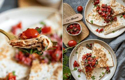 Web - Quesadilla s tuniakom a paradajkovou salsou
