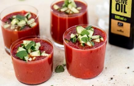 Recept - Studená gazpacho polievka z čerstvej zeleniny
