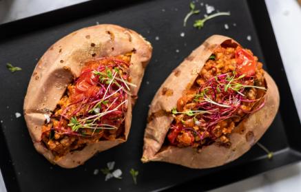 Recept - Pečené batáty plnené hovädzím mäsom
