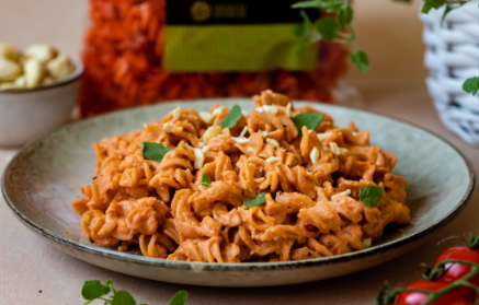 Recept - Šošovicové cestoviny s krémovou paradajkovou omáčkou